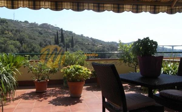 Prima del paese di Vallebona, in bella palazzina nel verde e ben curata, ampio Bilocale con ulteriore camera adiacente all'alloggio